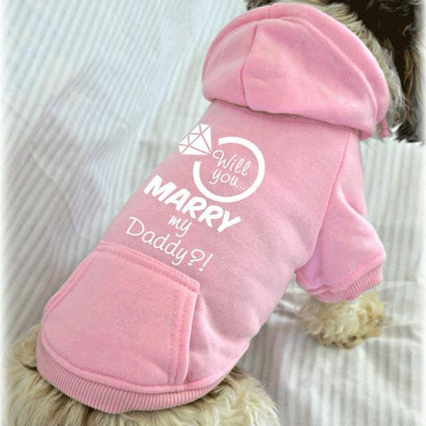 Will You Marry My Daddy Dog Sweatshirt. Wedding Proposal Idea.
