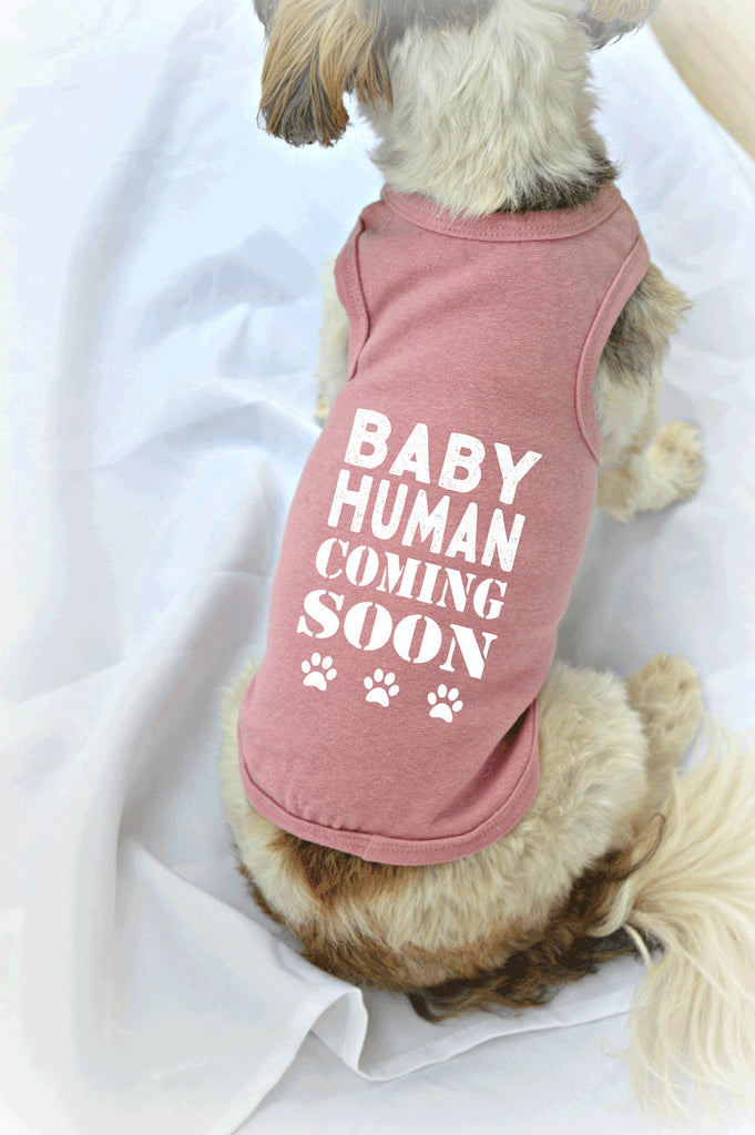 Baby Human Coming Soon Dog Tank Top