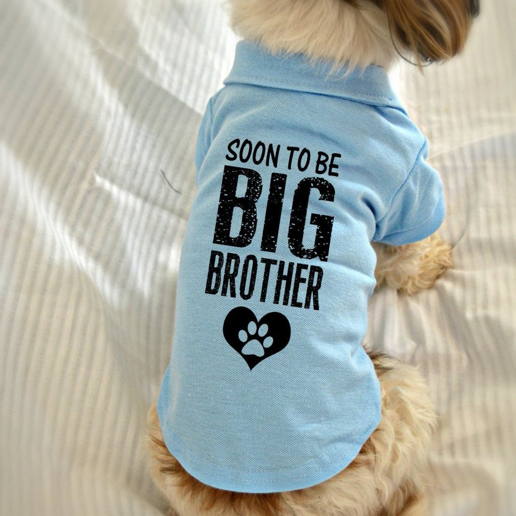Soon to Be Big Brother Dog Polo T-Shirt