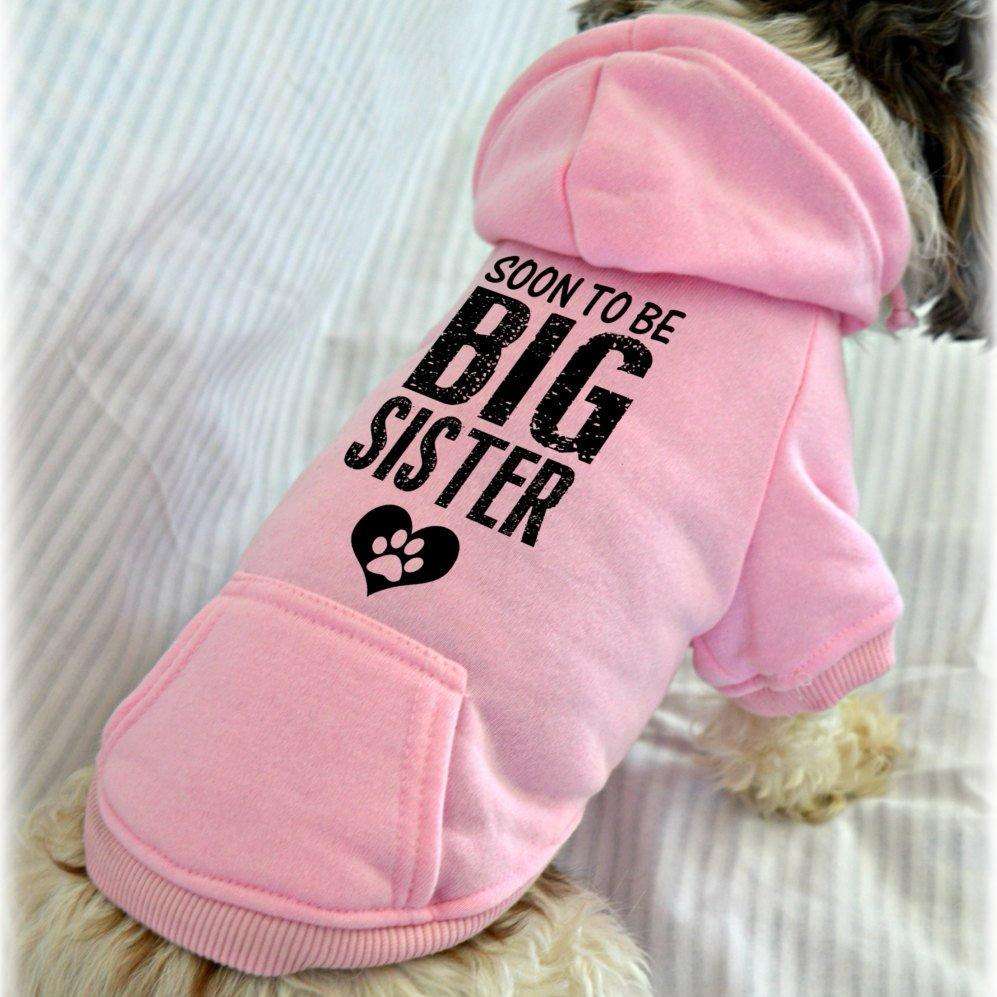 Soon to Be Big Sister Dog Sweatshirt Hoodie