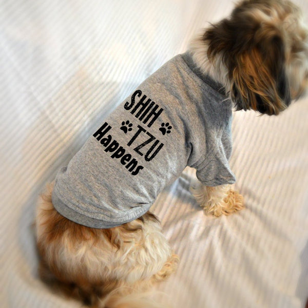 Shih tzu Happens Dog T-Shirt
