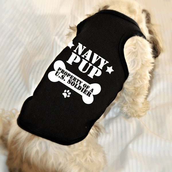 Navy Pup Property of U.S. Soldier Dog Tank Top