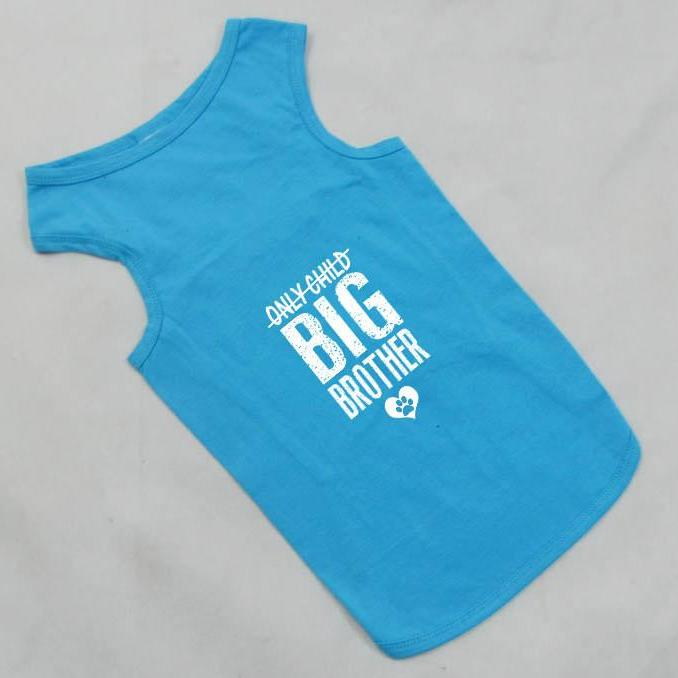 Only Child Big Brother Tank Top for Large Dog