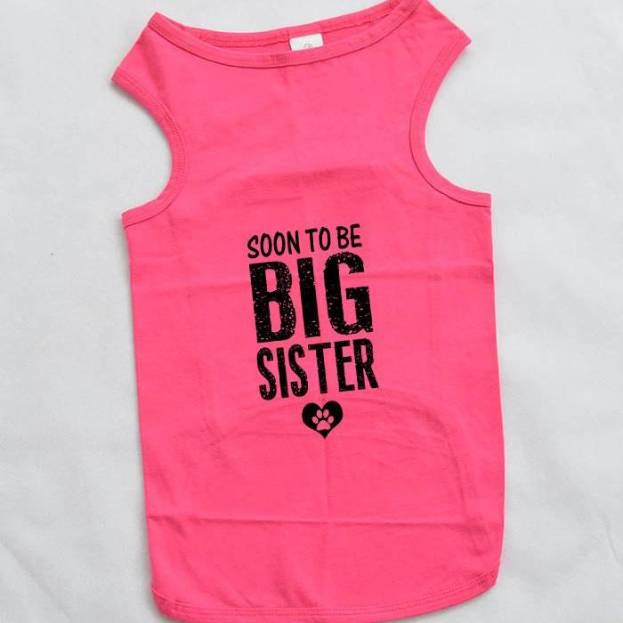 Soon To Be Big Sister Large Breed Dog Tank Top