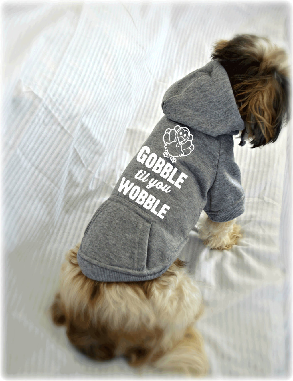 Gobble Til You Wobble Thanksgiving Dog Sweatshirt
