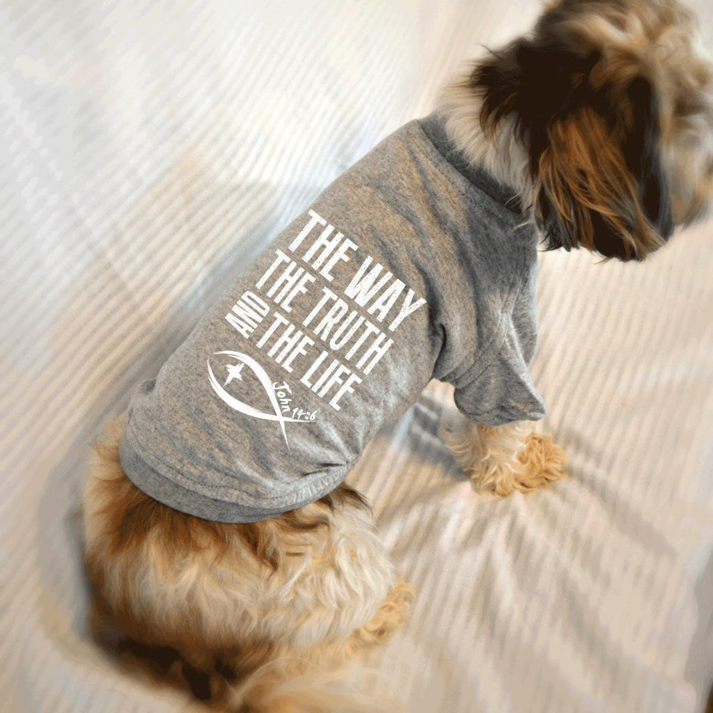 The Way The Truth and The Life John 14:6 Bible Verse Dog T-Shirt