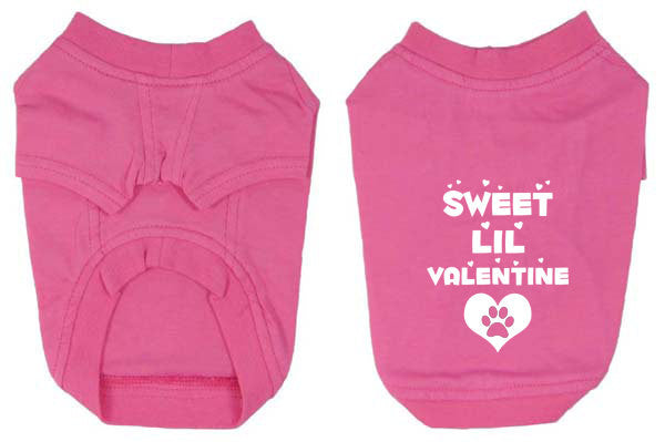 Sweet lil Valentine Dog T-Shirts for Valentine's Day