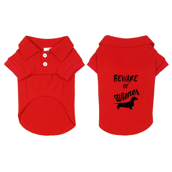 Beware of Wiener Dachshund Dog Polo Shirt