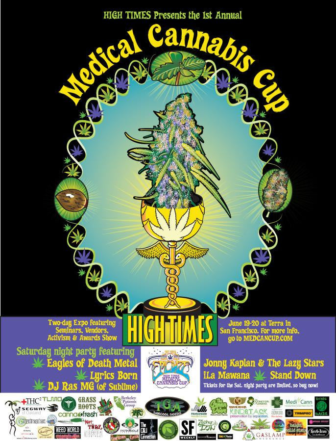 HIGH TIMES 1st Medical Cannabis Cup Poster