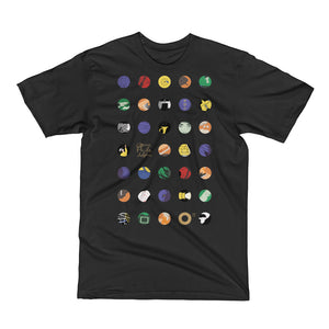 O17 Men's Short Sleeve T-Shirt: Black