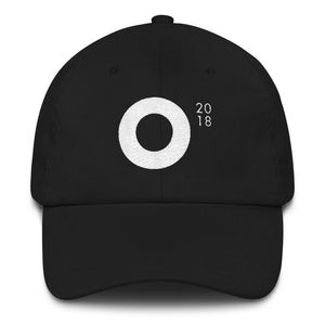 Festival O18 Cap (White on Black)