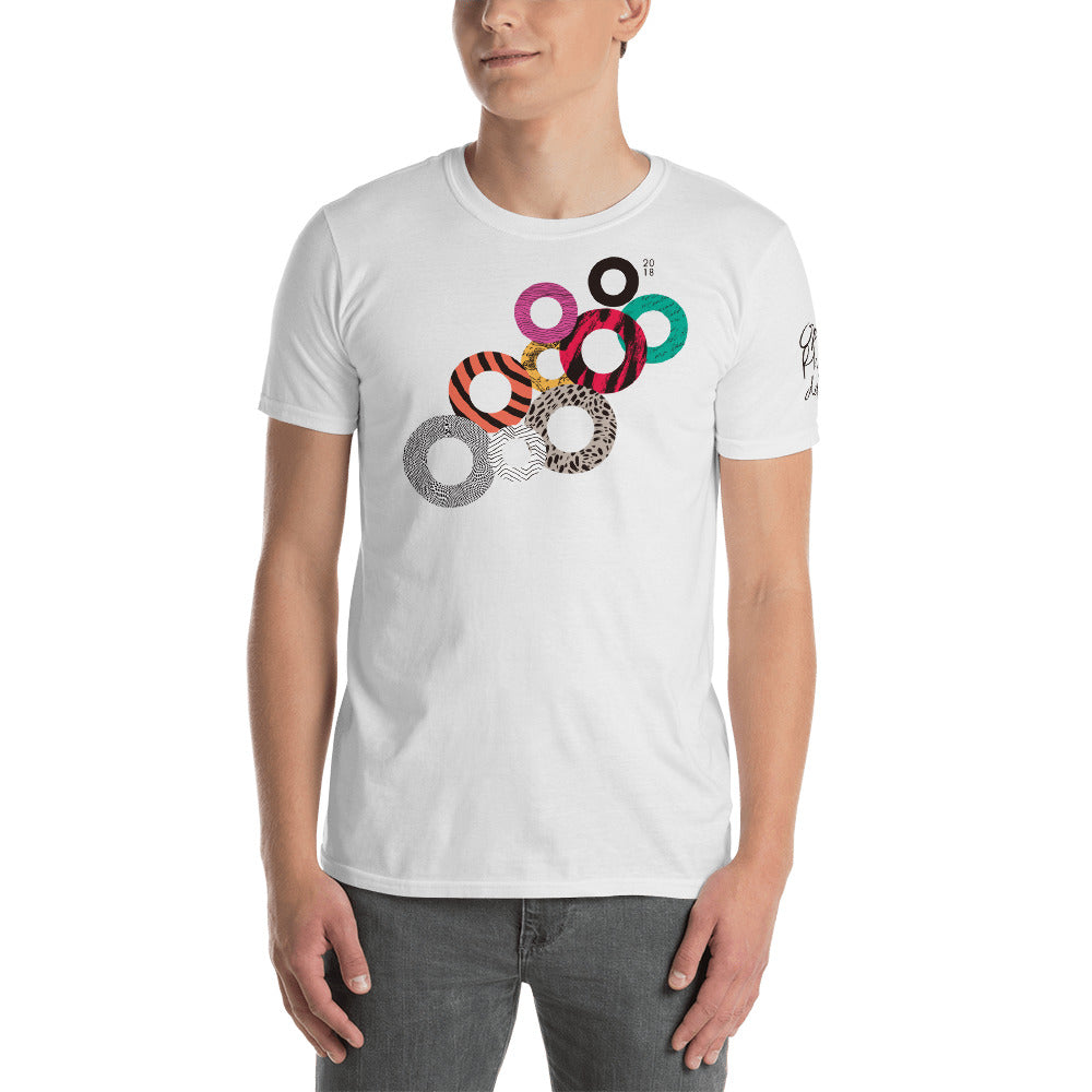 O18 T-Shirt with Lineup on Back (Multi-Color on White)