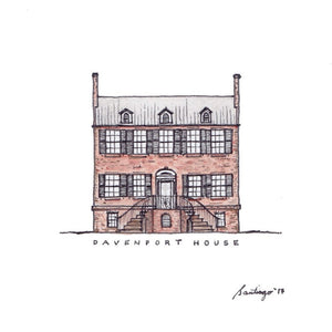 Davenport House - Art Print