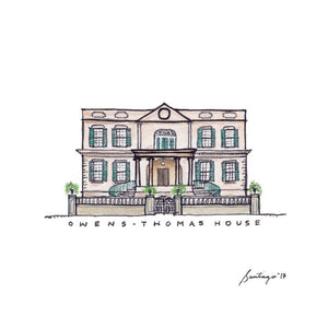 Owens-Thomas House - Art Print