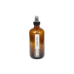 product image of 8oz. amber glass bottle with black spray top for zero waste bug spray refills