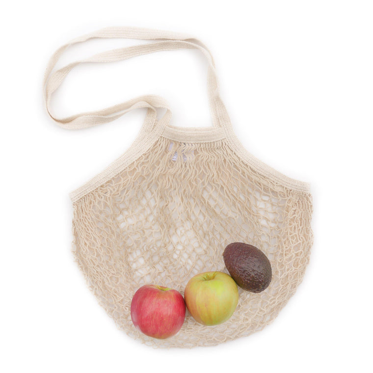 Natural Cotton String Bag (Long Handle)