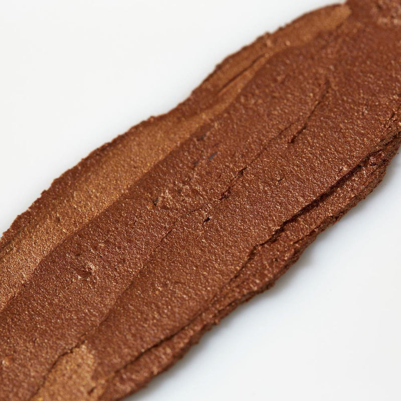 Product image of a chestnut balmie color smeared across a white background