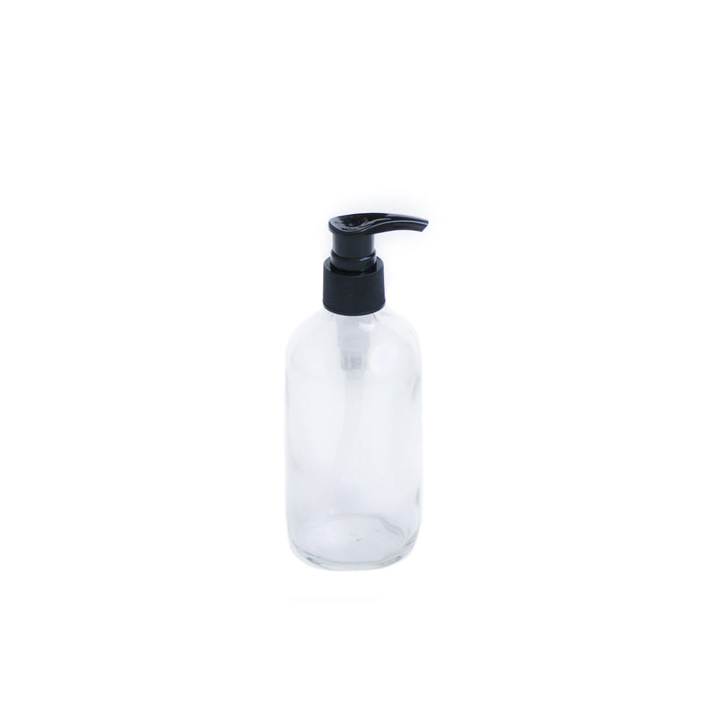 8 oz Clear Glass Pump Bottle