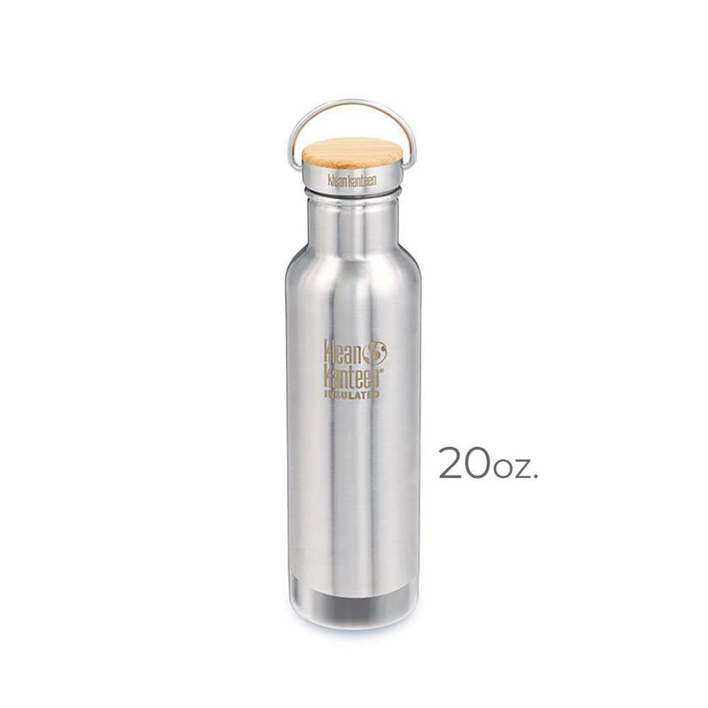 Product image of a stainless steel 20oz. Klean Kanteen bottle
