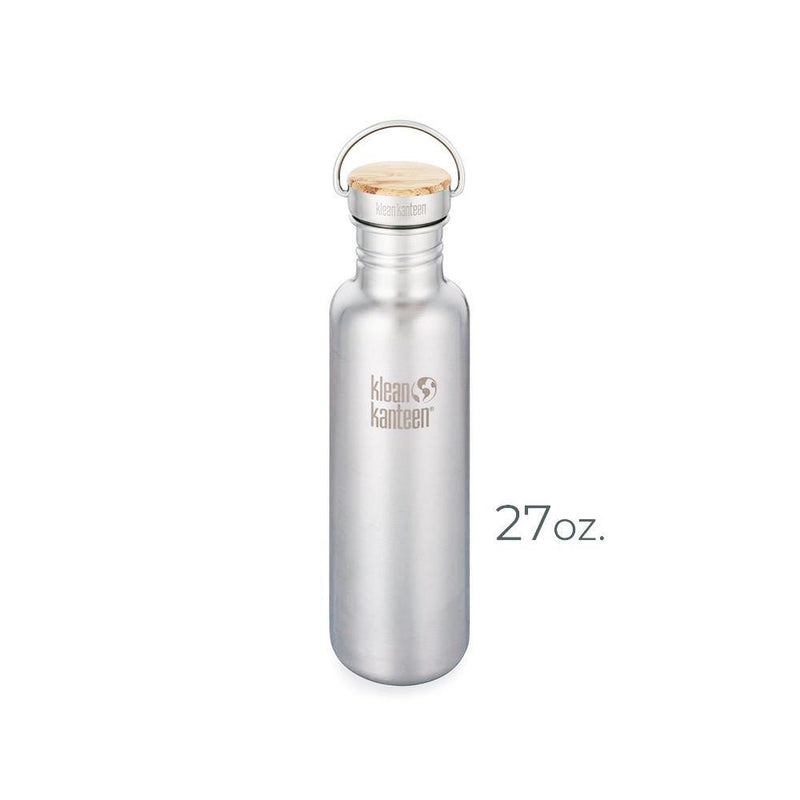 Product image of a stainless steel 27oz. Klean Kanteen bottle