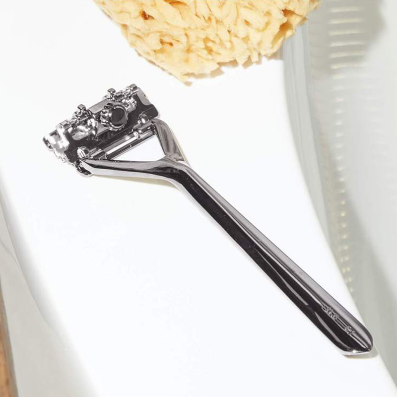 Mercury Pivoting Triple Blade Razor by Leaf for zero waste shaving.