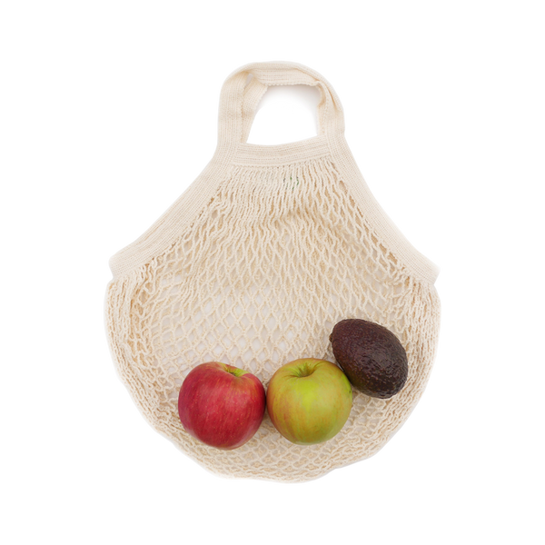 Organic Cotton String Bag (Short Handle)