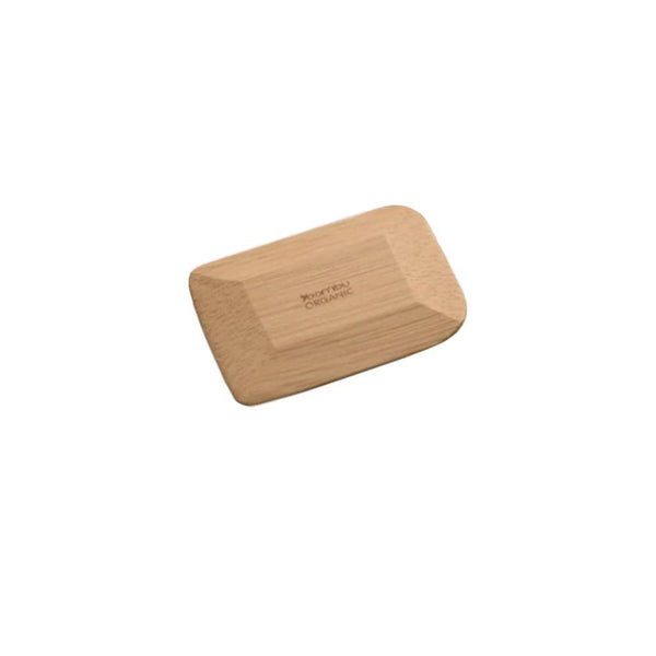 Product image of a brown bamboo rectangular shaped pot scraper.