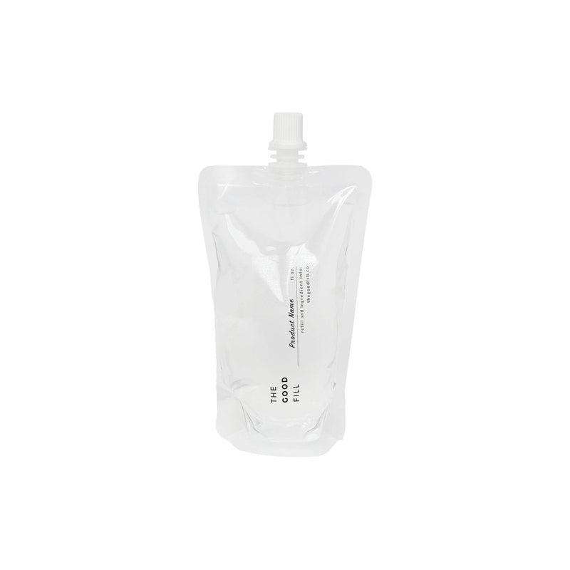 product image of 16oz. clear bulk re-fill pouch for zero waste hairspray
