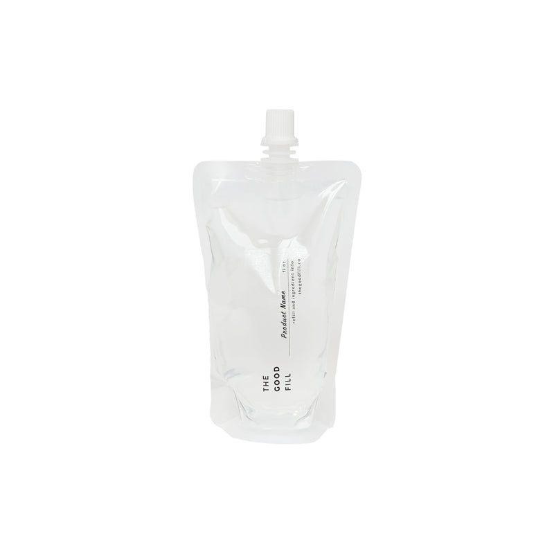 16oz. clear bulk re-fill pouch for zero waste shampoo