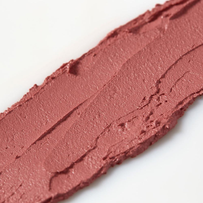 Product image of a natural pink balmie color smeared across a white background