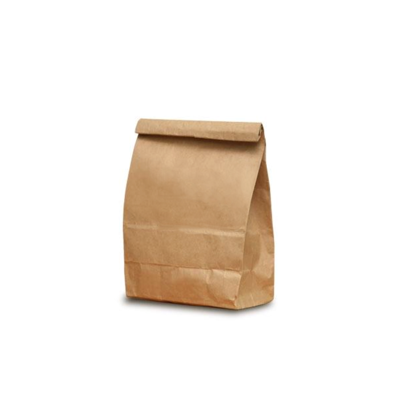 product image of a brown paper bag for zero waste, package free laundry detergent powder refills