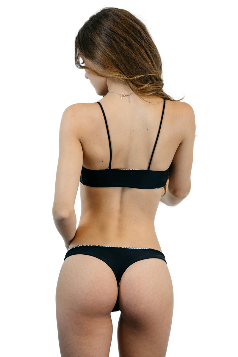 Black & Snakeskin Reversible Pfeiffer Bottom