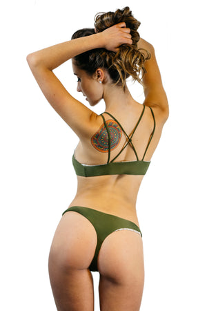 Olive & Snakeskin Reversible Coronado Bottom