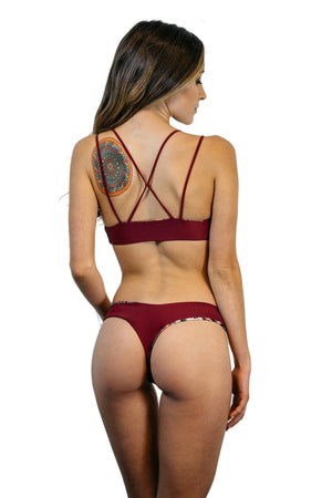 Wine & Peacock Reversible Coronado Bottom