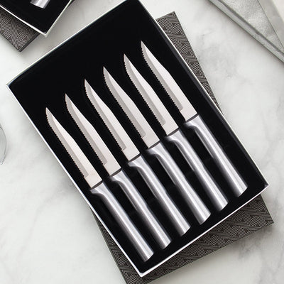 Six Serrated Steak Knives Gift Set