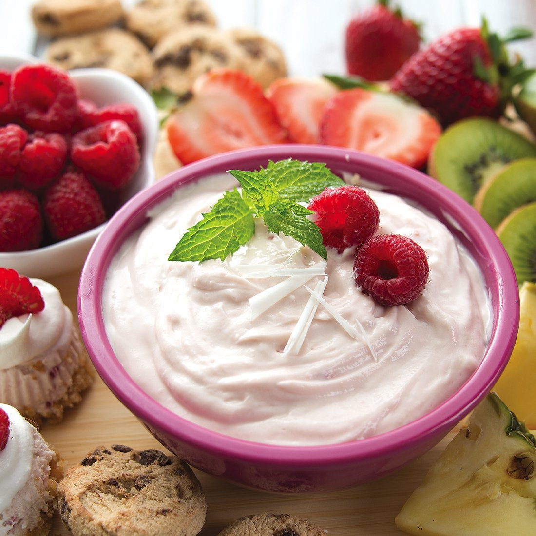 White Chocolate Raspberry Dip