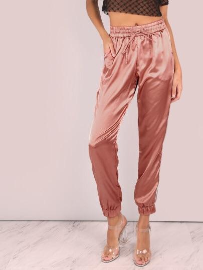 Satin Luxe Trainer Joggers