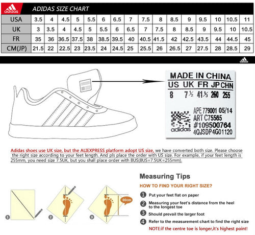 adidas uk to us chaussures size