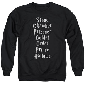 Harry Potter - Titles Adult Crewneck Sweatshirt
