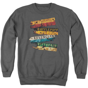 Harry Potter - Burnt Banners Adult Crewneck Sweatshirt