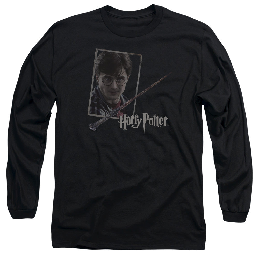 Harry Potter - Harry's Wand Portrait Long Sleeve Adult 18/1