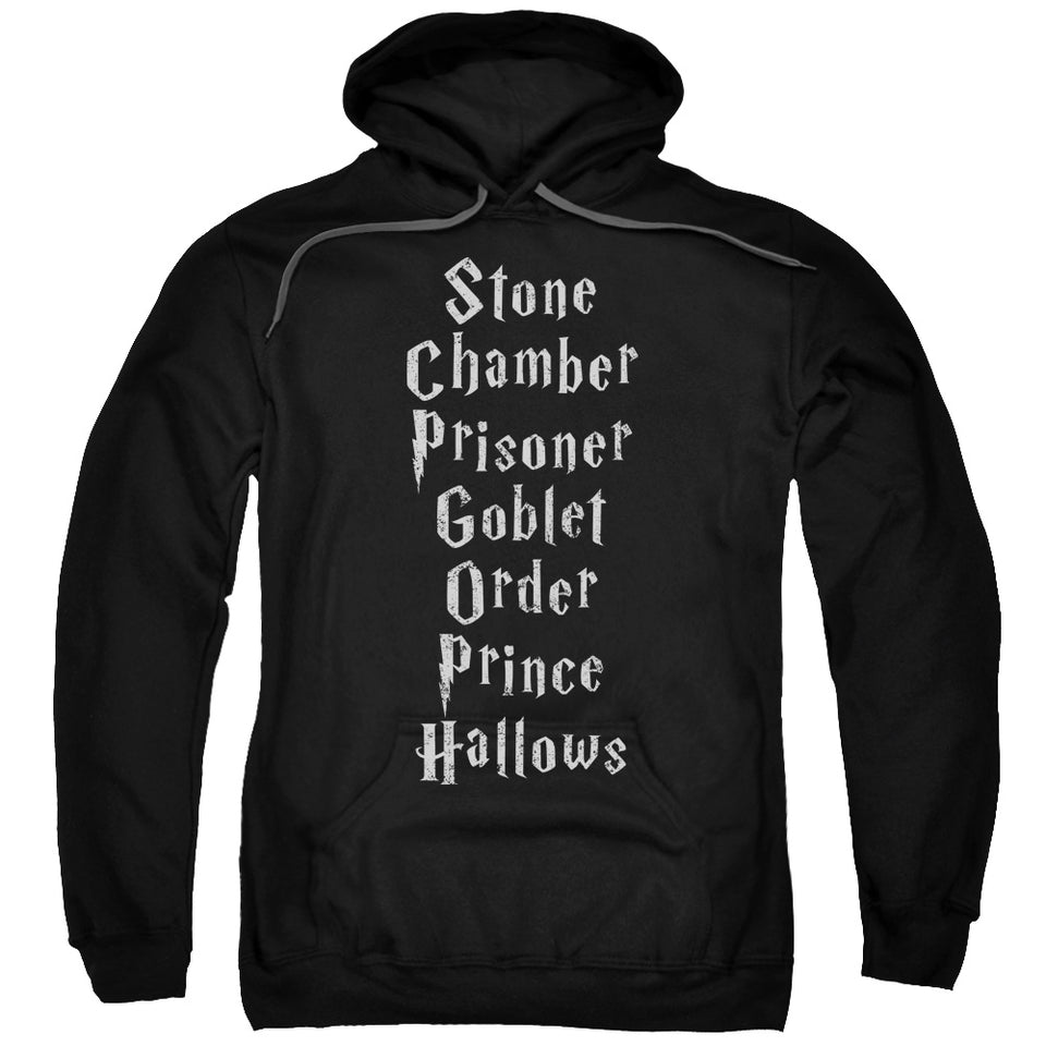 Harry Potter - Titles Adult Pull Over Hoodie