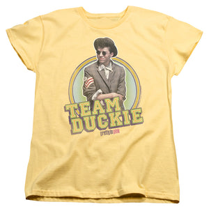 "Pretty In Pink - ""Team Duckie"" (Women's Tee)"