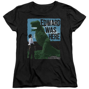 "Edward Scissorhands - ""Edward Was Here"" (Women's Tee)"