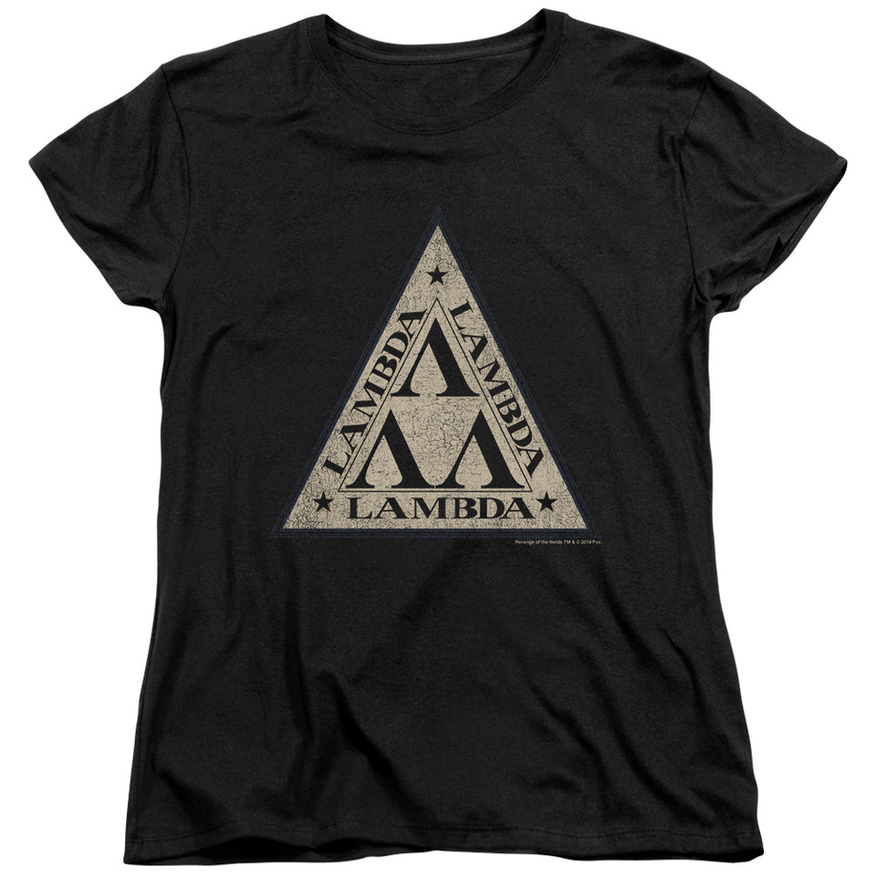 "Revenge Of The Nerds - ""Tri Lambda Logo"" (Women's Tee)"