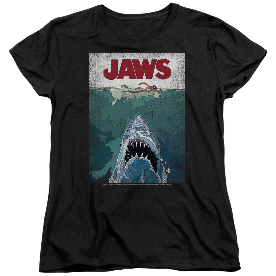 "Jaws - ""Lined Poster"" (Women's Tee)"