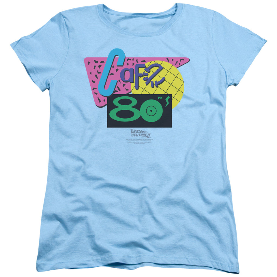 "Back To The Future 2 - ""Cafe 80's"" (Women's Tee)"