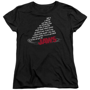 "Jaws - ""Dorsal Text"" (Women's Tee)"