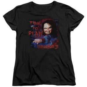 "Childs Play 3 - ""Time To Play"" (Women's Tee)"
