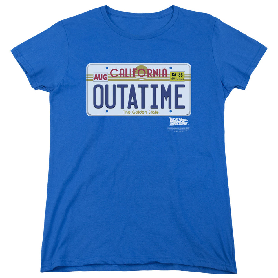"Back To The Future - ""Outatime Plate"" (Women's Tee)"
